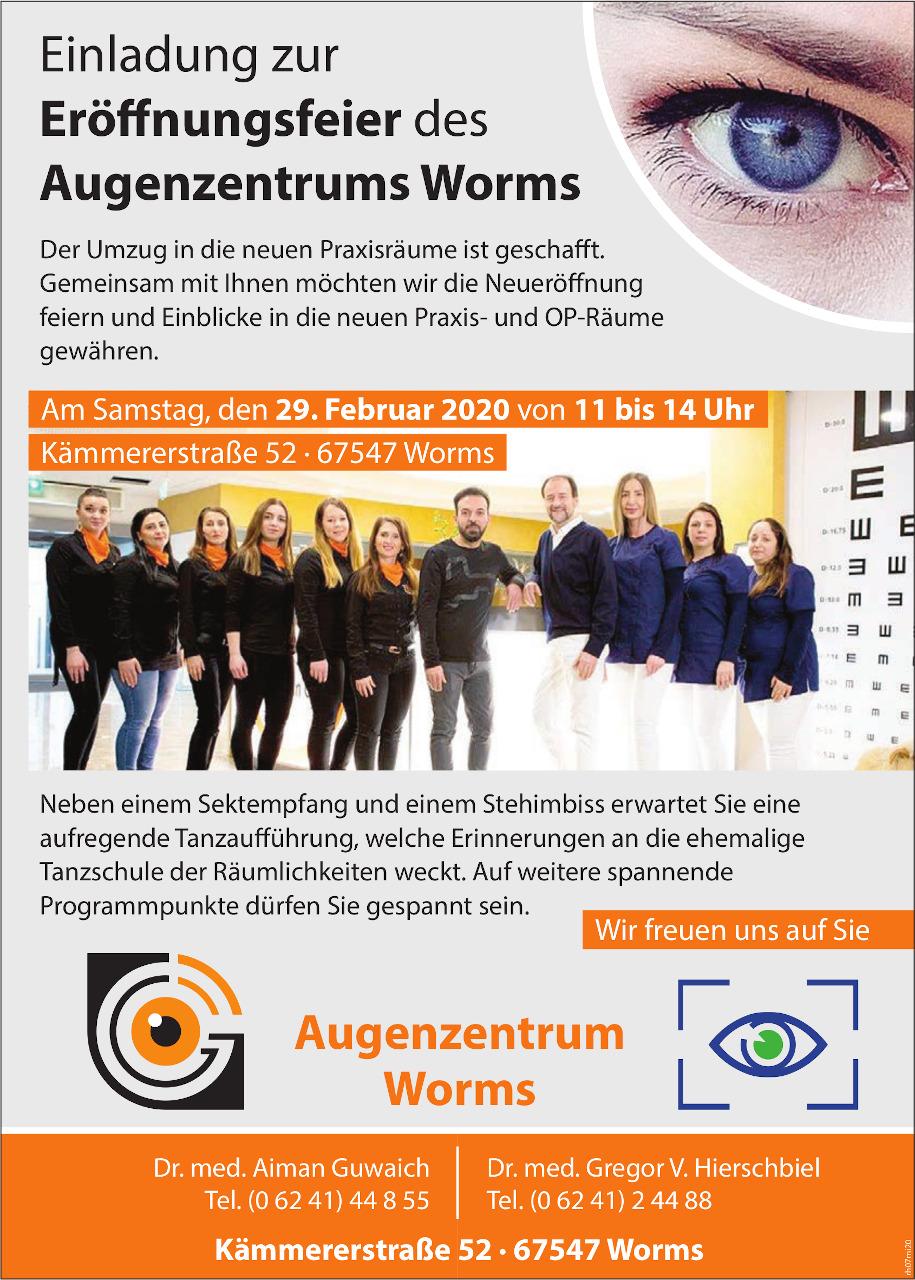 Eroeffnung des Augenzentrums Worms